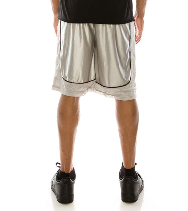 MEN DAZZLE AIR-MESH BASKETBALL SHORTS - GREY