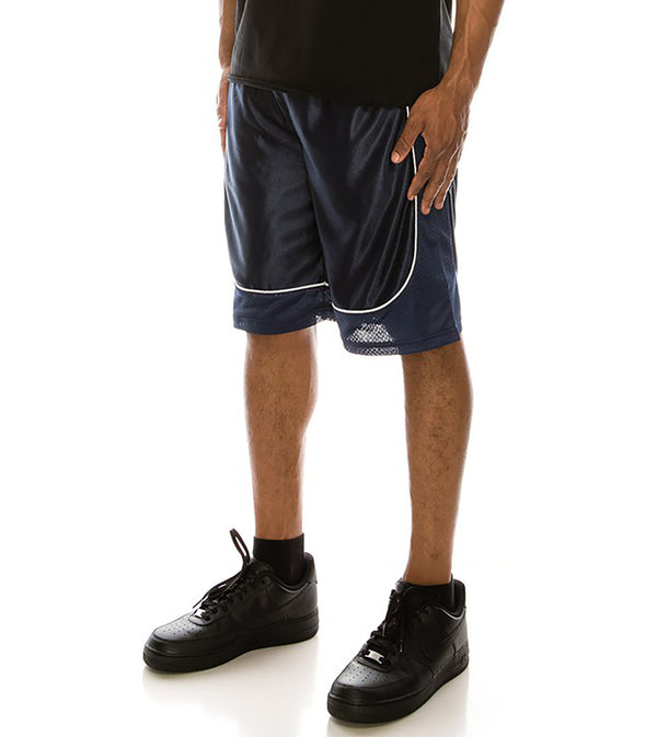 MEN DAZZLE AIR-MESH BASKETBALL SHORTS - NAVY