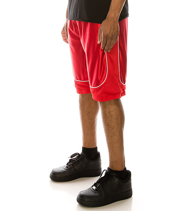MEN DAZZLE AIR-MESH BASKETBALL SHORTS - RED