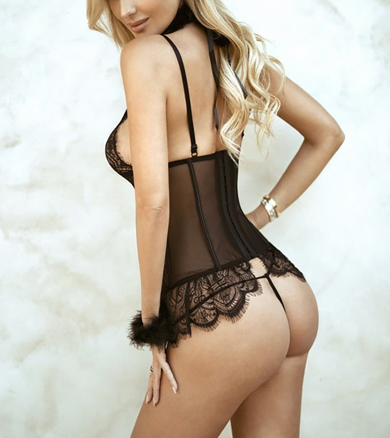 WOMEN SEXY CAT LINGERIE LUXE SET