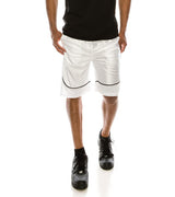 MEN DAZZLE AIR-MESH BASKETBALL SHORTS - WHITE