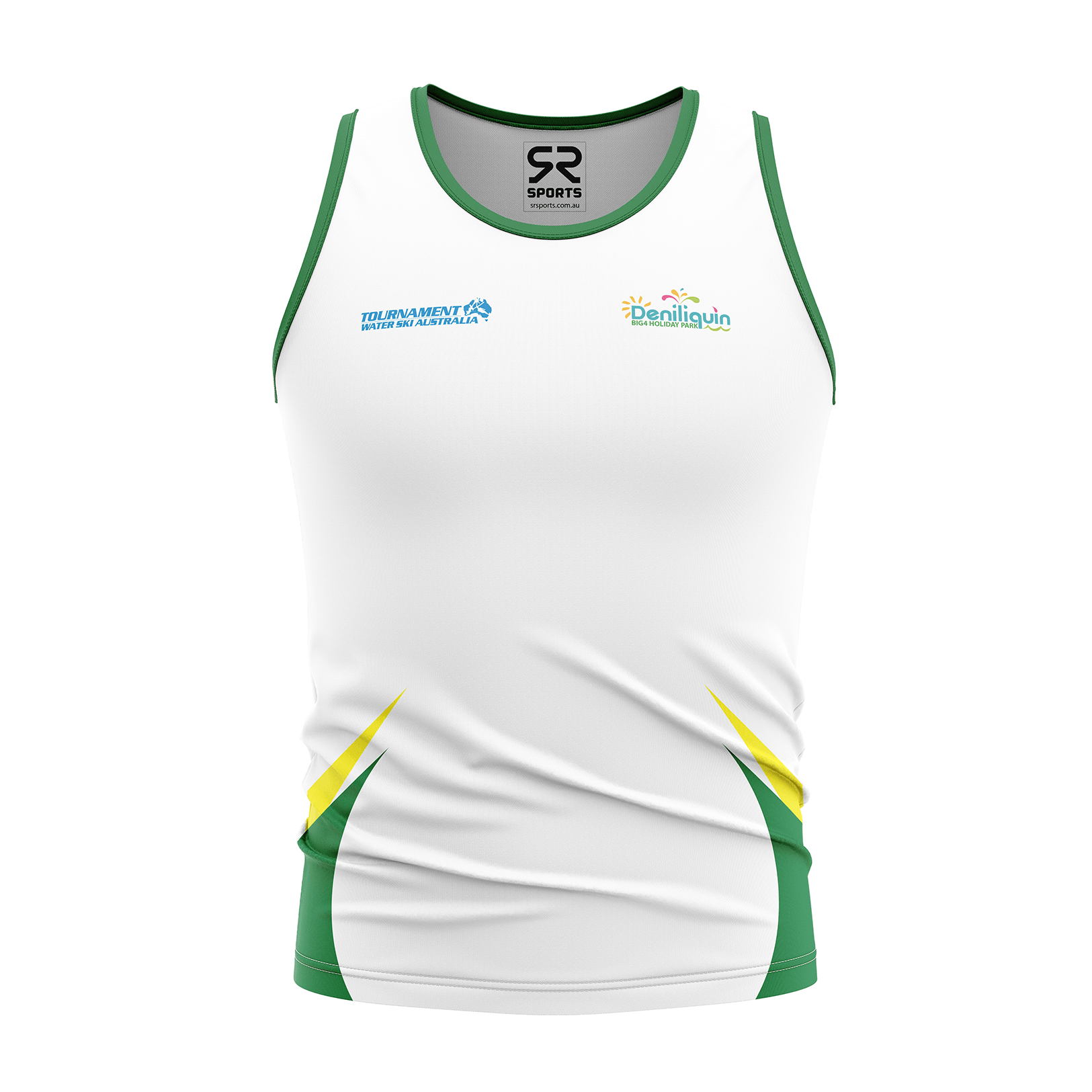 MENS AUSTRALIAN WATERSKI TEAM SUPPORTERS SINGLET