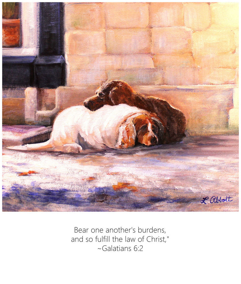 Bear One Another's Burdens, Art-Scripture Giclee