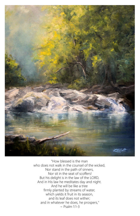 Blessed Is the Man, Art-Scripture Giclee