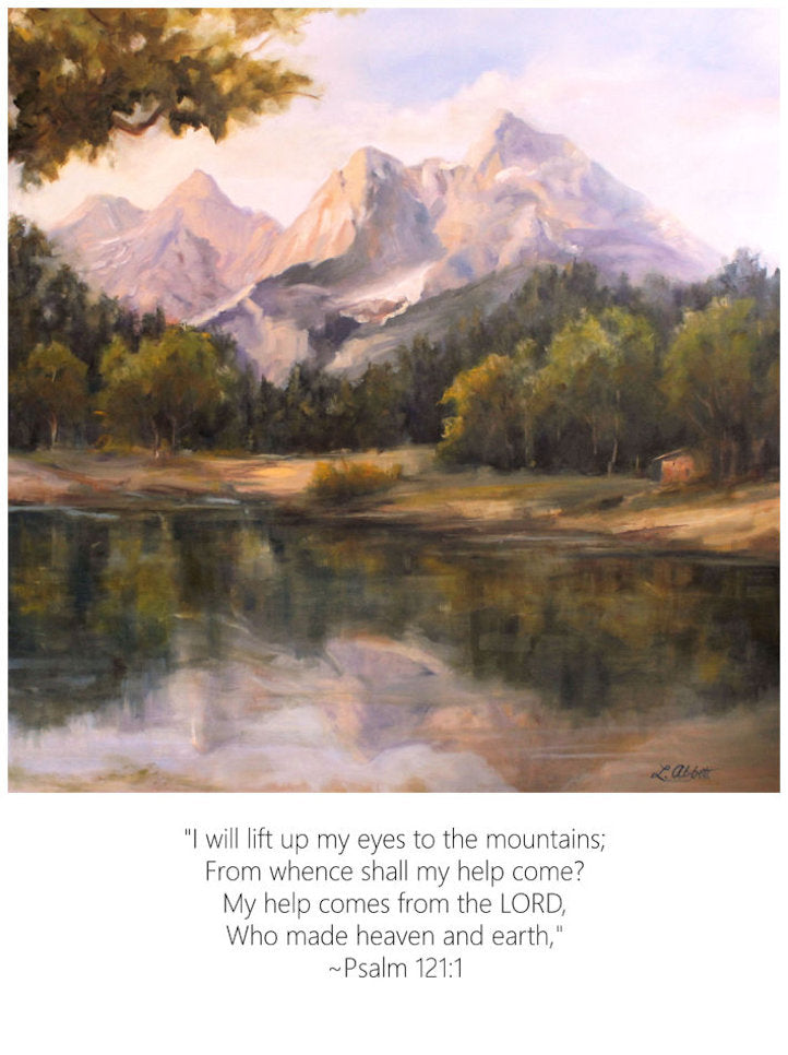 Lift Up My Eyes, Art-Scripture Giclee