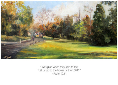 House of the Lord, Art-Scripture Giclee