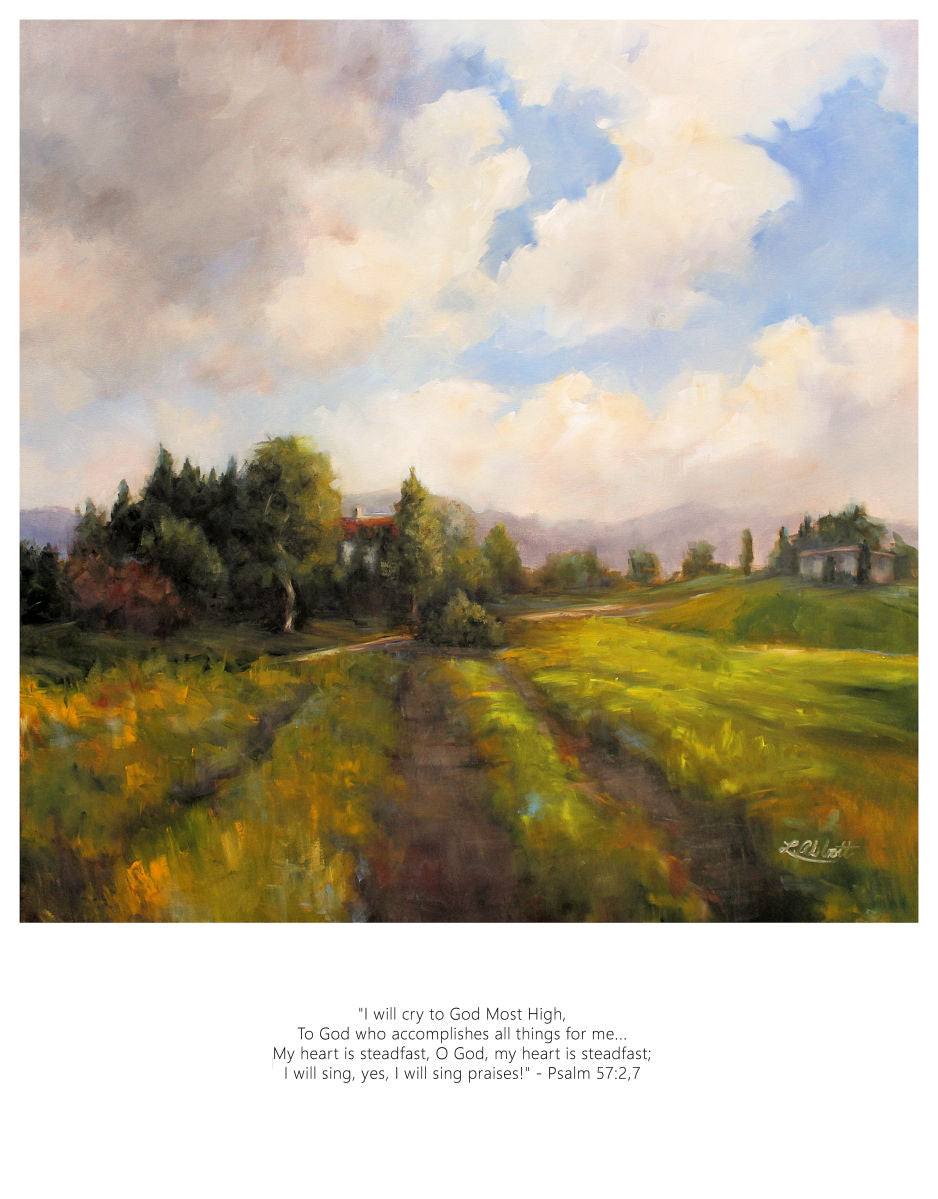 My Heart Is Steadfast, Art-Scripture Giclee
