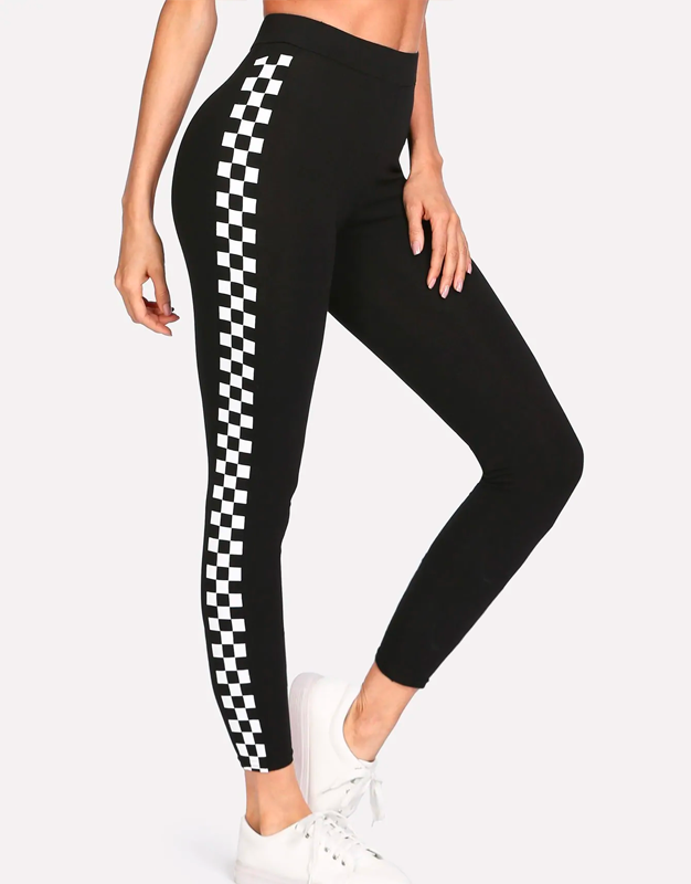Checkered Side Leggings
