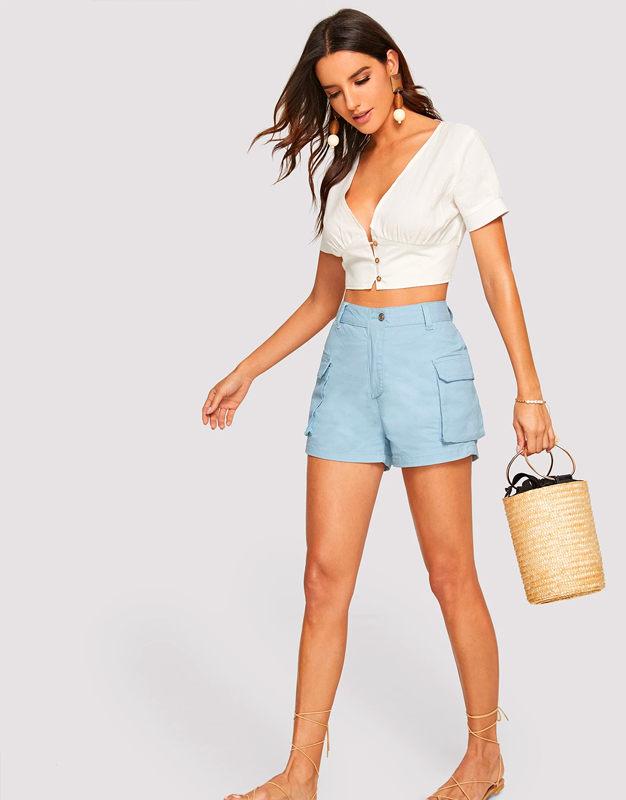 Always On Time Denim Shorts