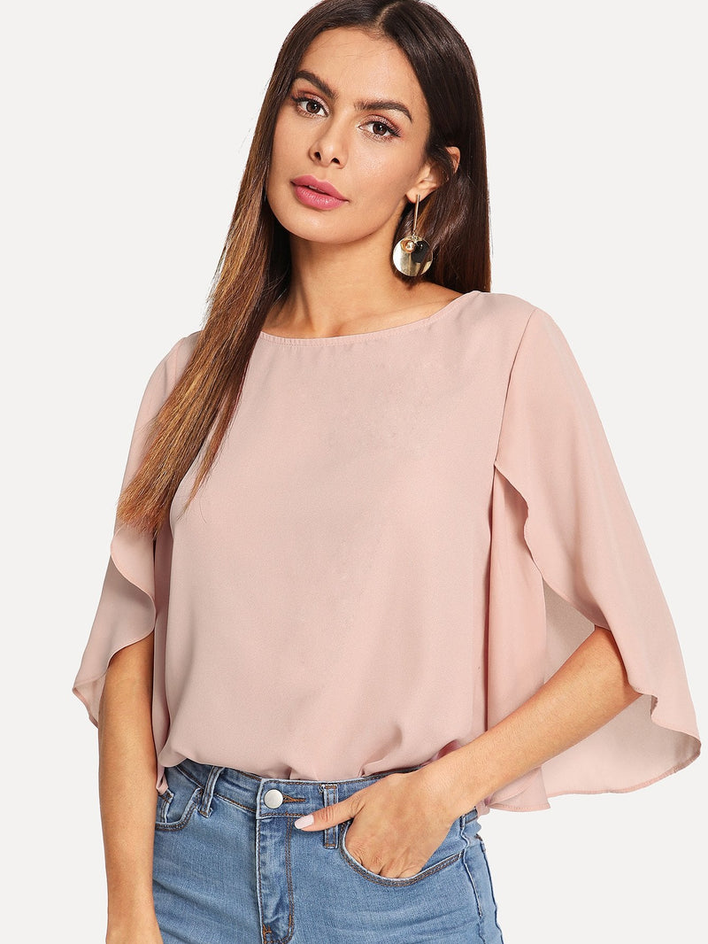 Butterfly Sleeve Plain Top