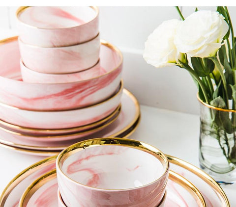Pink Marble Cutlery - Zandes