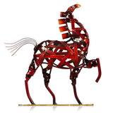 Metallic Horse Sculpture - Zandes