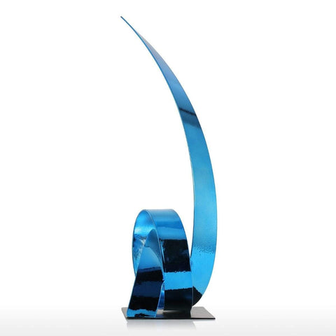 Rising Ribbon Metal Sculpture - Zandes