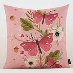 Flower Plant Throw pillow cushion cover - Zandes