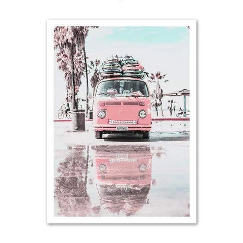 Retro Truck Beach Side Wall Art - Zandes