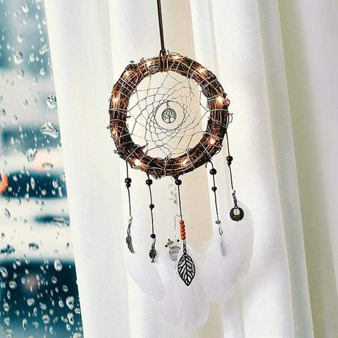 Dream catcher with glowing LEDs - Zandes
