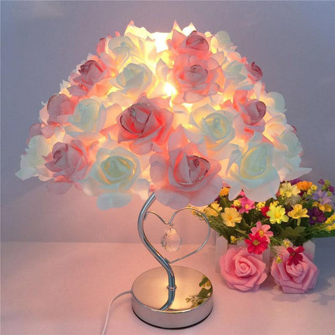 Romantic Rose Table Lamp - Zandes