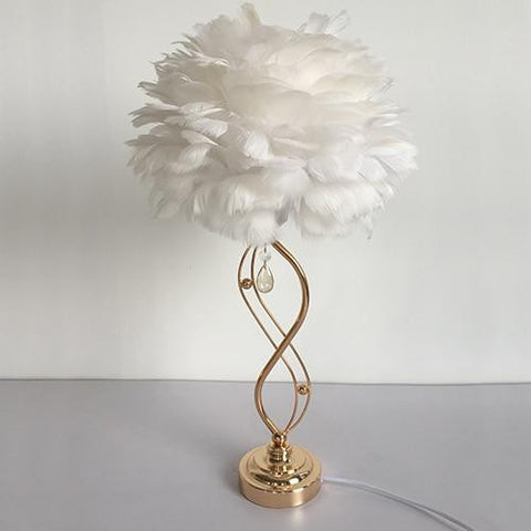 Modern Feather Crystal Table lamps - Zandes