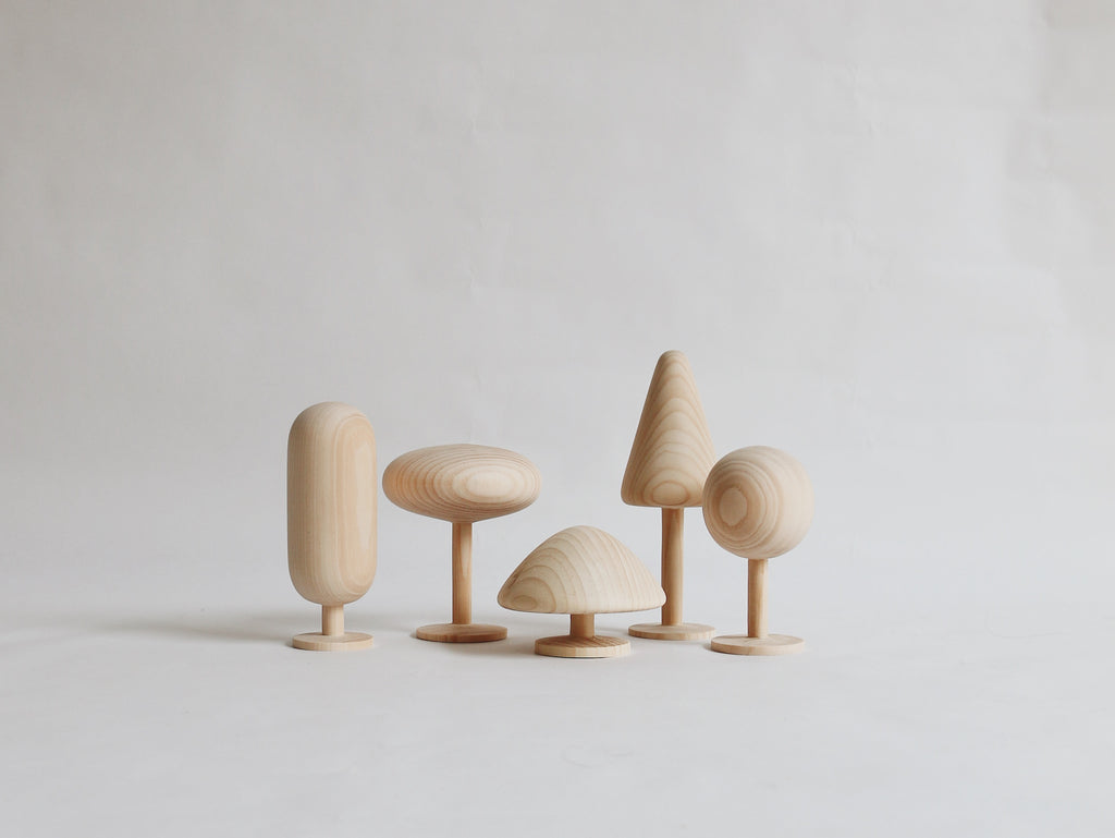 Minimalist Wooden Trees Set - New Collection
