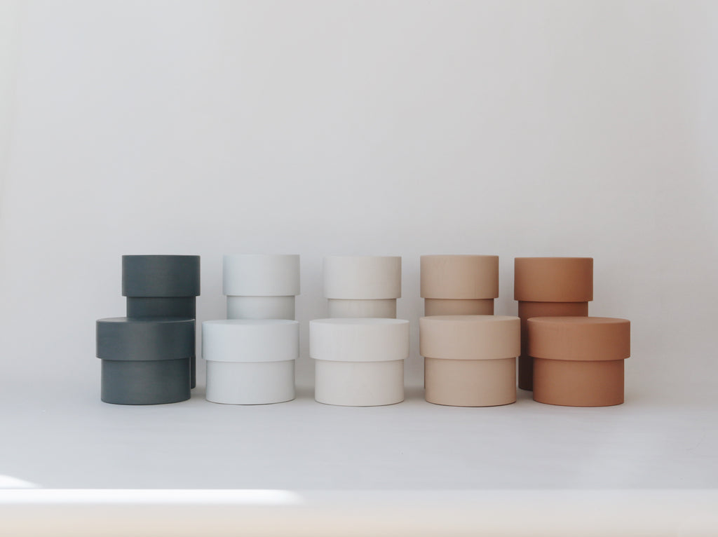 Stone & Clay Collection - Wooden Storage containers