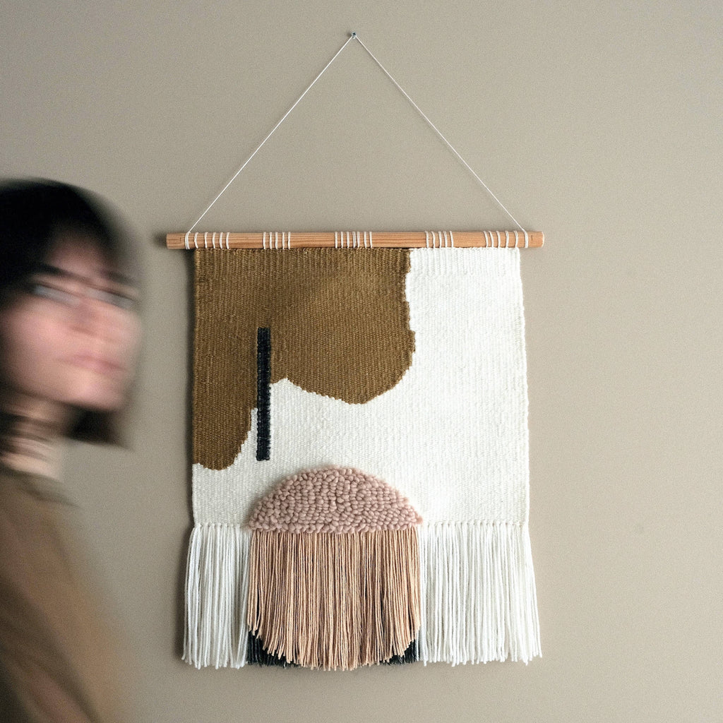 Large Abstract Woven Wall Hanging