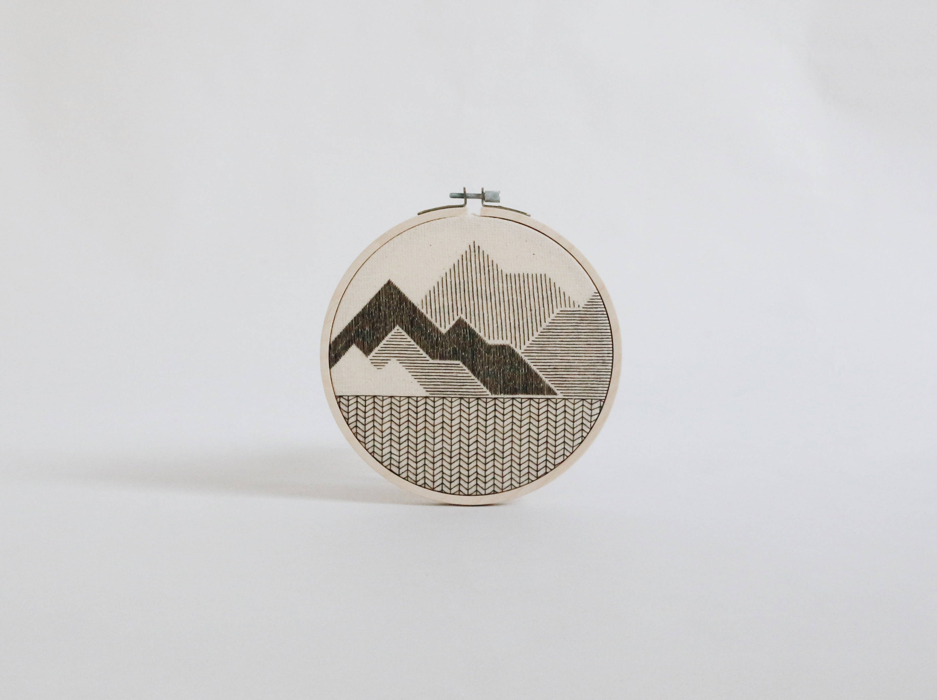 Mountain hand embroidery