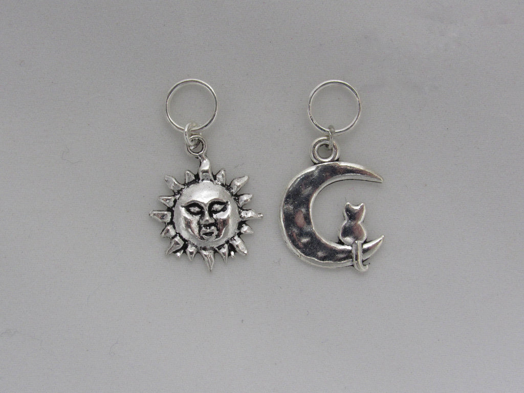 Sun and Moon Stitch Markers