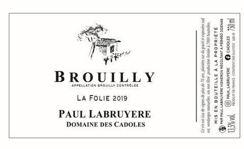 Brouilly La Folie 2019