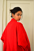 Load image into Gallery viewer, Khadi Coat One Button : Red