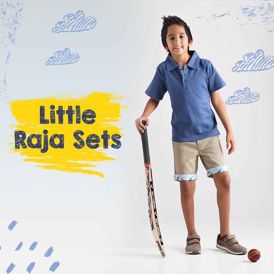 Cricket Raja Polo & Short Set