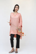 Load image into Gallery viewer, Long Dusty Pink Silk Kaftan