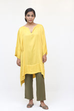 Load image into Gallery viewer, Yellow Silk Long Kaftan