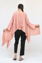 Load image into Gallery viewer, Short pink silk kaftan