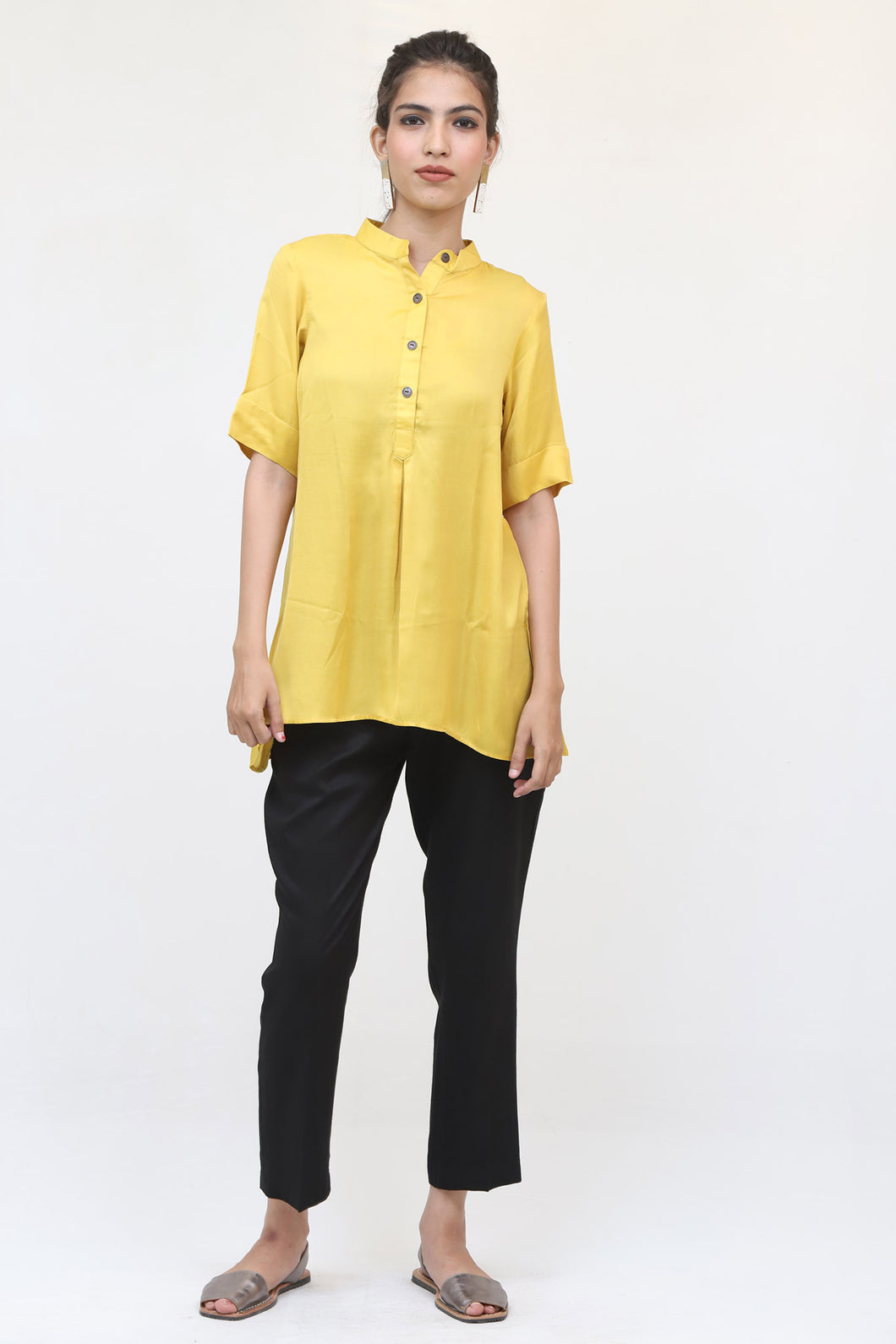 Yellow Short Sleeve Top