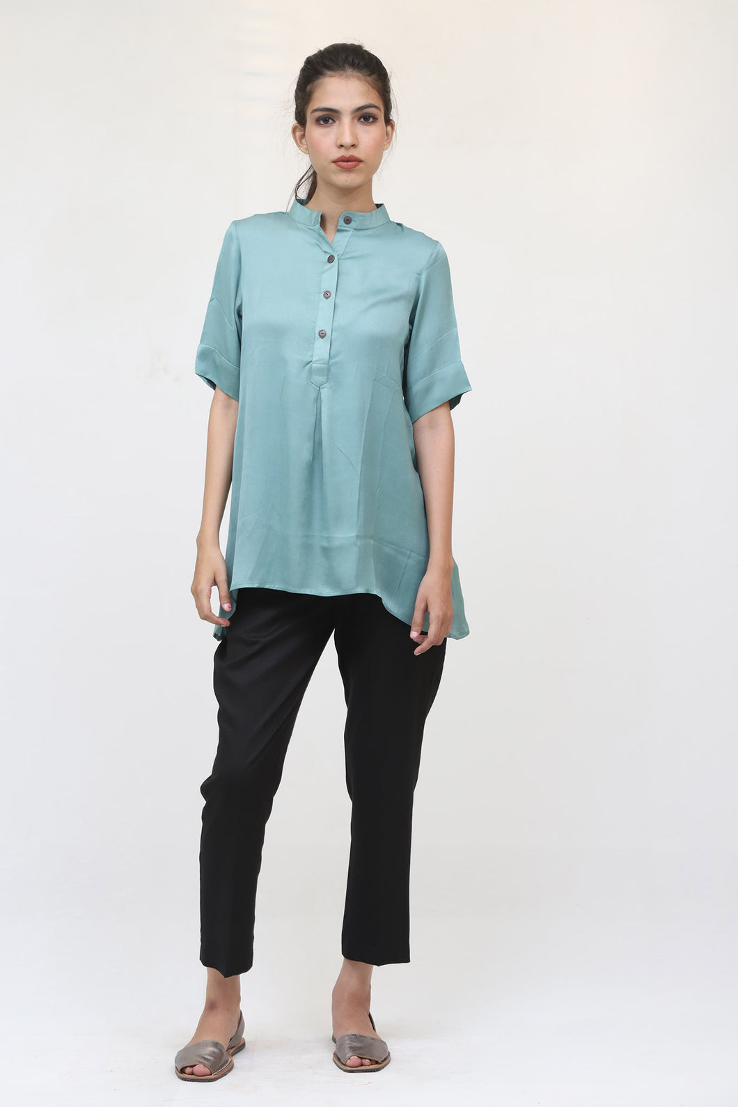 Mint Green Short Sleeve Top
