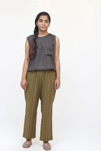 Yellow zig zag pants