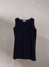 Load image into Gallery viewer, Pocket Sleeveless Top :  Blue
