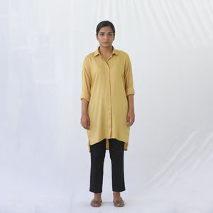 Long Button Shirt Mustard
