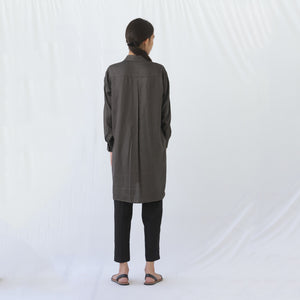 Long Button Shirt Grey