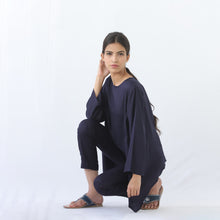 Load image into Gallery viewer, Short Kaftan Navy