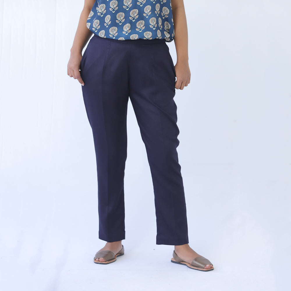 Navy Slim Pants