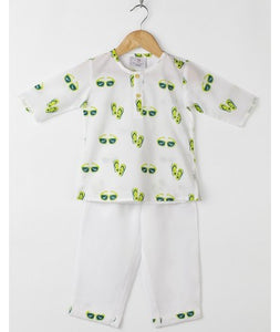 Sunglass & Slipper Pyjama Set