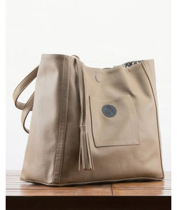 Avni Reversable Tote Bag : Khaki