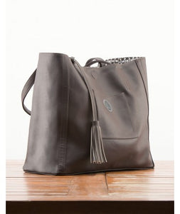 Avni Reversable Tote Bag : Charcoal