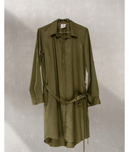 Load image into Gallery viewer, Shirt Dress With Pockets : Khaki