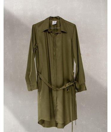 Shirt Dress With Pockets : Khaki