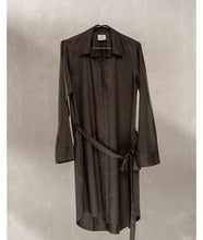 Load image into Gallery viewer, Shirt Dress With Pockets : Charcoal