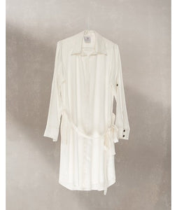 Shirt Dress With Pockets : Off White
