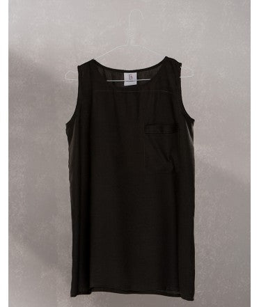 Pocket Sleeveless Top :  Charcoal