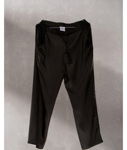 Drawstring Comfort Travel Pants : Charcoal